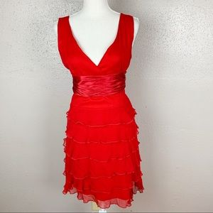 BcbgMaxAzria Red Layered Dress 6